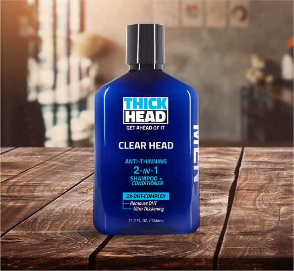 CLEAR HEAD Anti-Thinning Shampoo & Conditioner  Product by THICK HEAD™