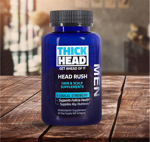 HEAD RUSH Hair & Scalp Supplement Product by THICK HEAD™
