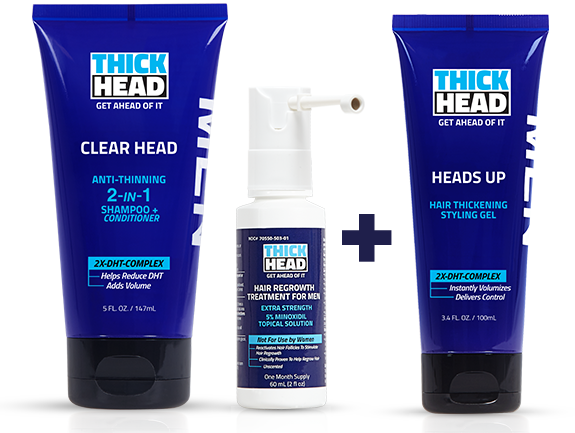 Men's Hair Growth Product - DHT Hair Loss Treatment By THICK HEAD