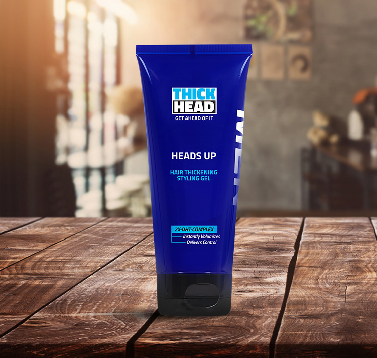 HEADS UP Hair Thickening Styling Gel Product by Thick HEAD™